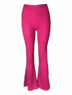 Fuchsia Soft Flared Pants