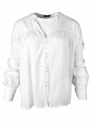 Rut&Circle White Laced Sleeve Blouse