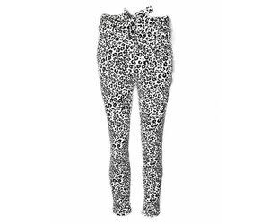 f9baea5fafad White Leopard Bow Trousers - BLACKFISH
