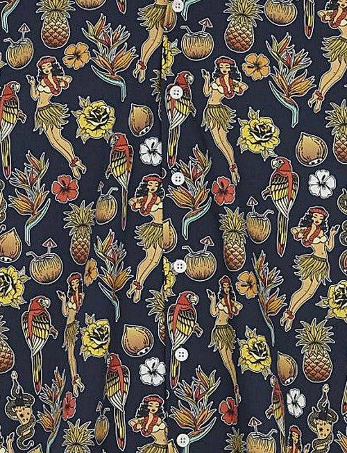 Just Junkies Sall Hula Girl Hawaï Shirt