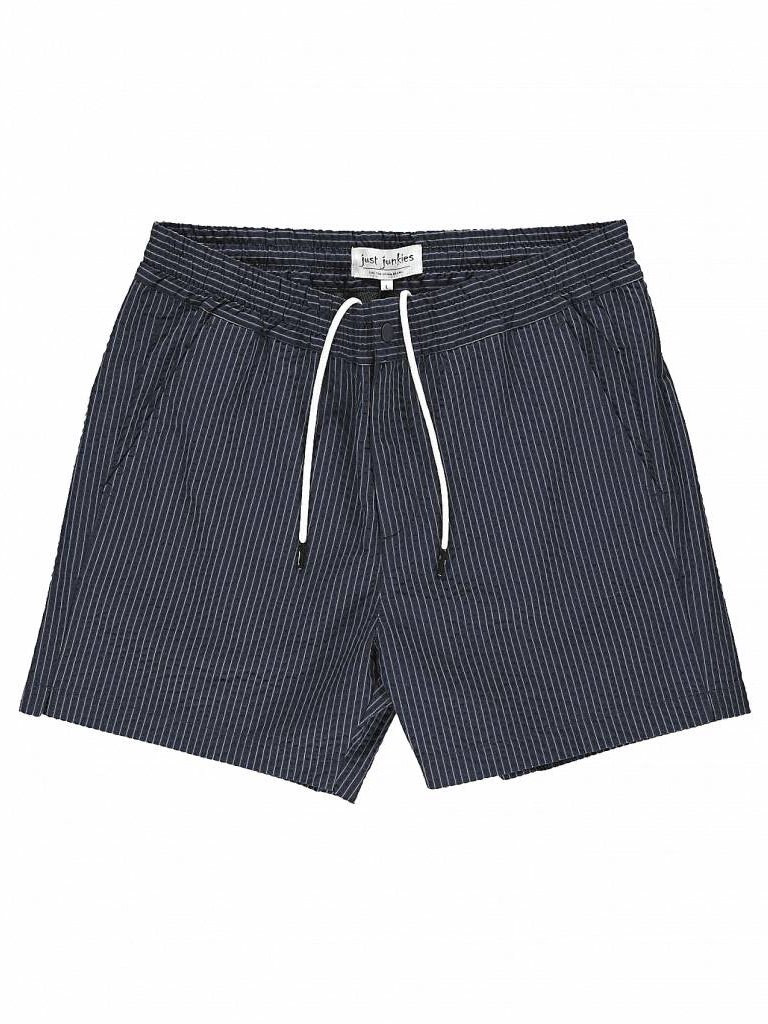 f36dd994c5 Create Navy Pinstriped (Swim) Shorts - BLACKFISH