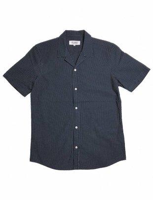 Just Junkies Purio Navy Pinstriped Shirt