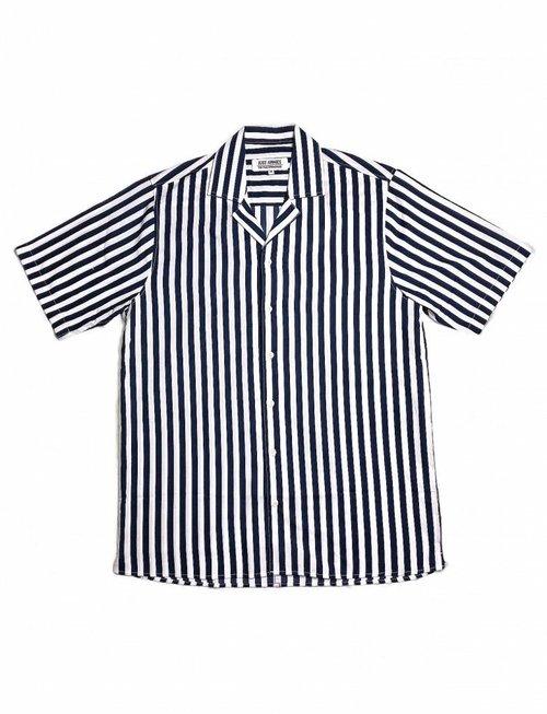 Just Junkies Ross Blue Candy Striped Shirt