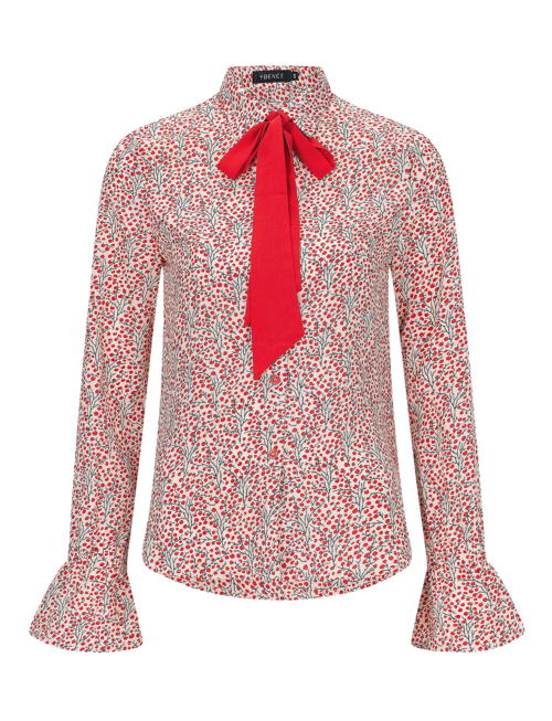 Ydence Joyce Coralberry Bow Blouse