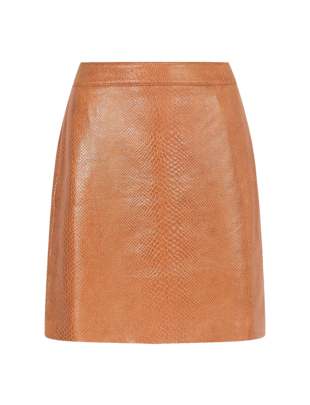 Ydence Nelly Camel Viper Skirt