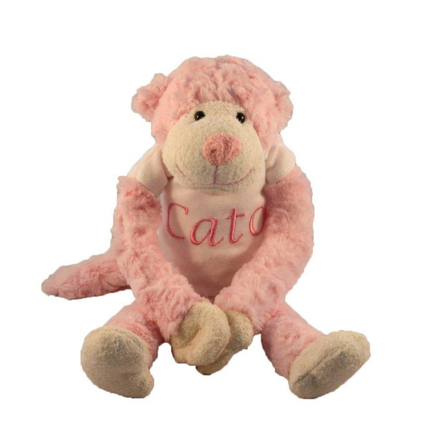 Slingeraap roze met naam-1