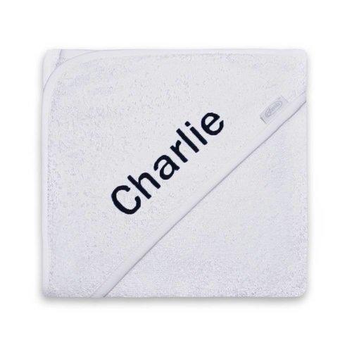 Badcape Wit met naam