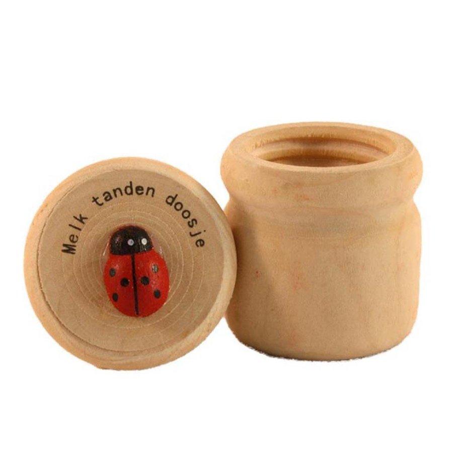 Houten tandendoosje Lieveheersbeestje-1