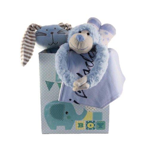 Cadeautas Slingeraap blauw