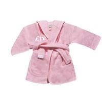 thumb-Baby Badjas roze met naam-1
