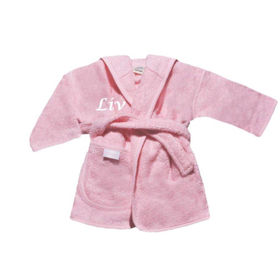 Baby Badjas roze met naam-1