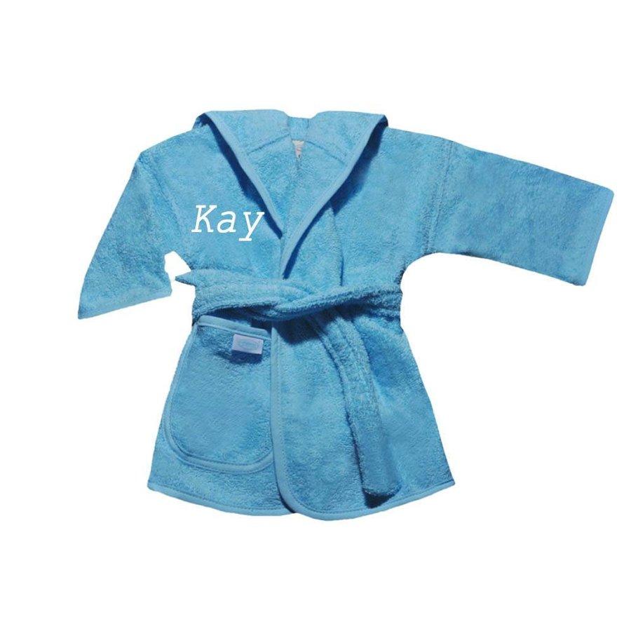 Baby Badjas blauw met naam-1