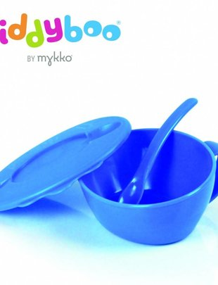 Mykko Kiddyboo eetkommetje met zacht lepeltje blauw