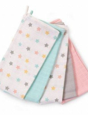 Childhome Childhome Doeken Tetra Set 3 Pastel + 3 Stars