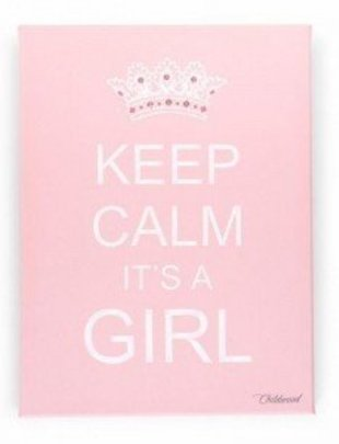 Childhome Childhome Schilderij Keep Calm Girl Rose