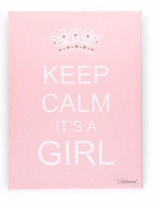 Childhome Childhome Schilderij Keep Calm It's a Girl