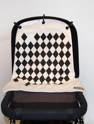 Kurtis Kurtis pram curtain - Harlequin Black&White