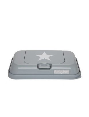 Funk Box Star Wet Wipes Grey Small