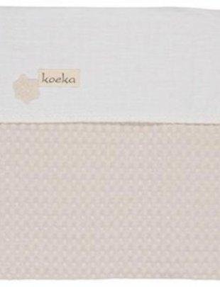 Koeka Koeka Deken Wieg Antwerp Pebble/White 100 x 150 cm