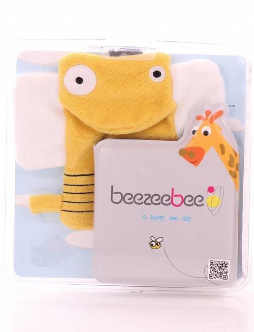 Beezeebee Bath book + wash cloth