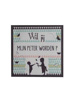 "Minimou Minimou Sticker ""Wil jij mijn Peter Worden""?"