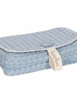 Koeka Koeka Hoes Voor Babydoekjes Antwerp Soft blue