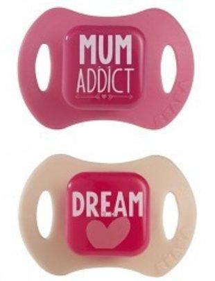 Béaba Beaba Fopspenen set Mum Addict/Dream