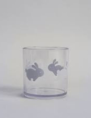 Buddy and Bear Buddy and Bear Plastic Glas Hoppy Bunny