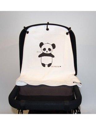 Kurtis pram curtain panda black & white