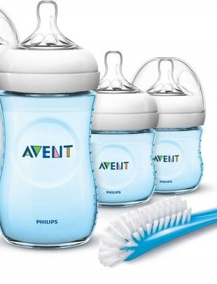 Avent Avent Natural Bottle Duo pack Blue 260 ml