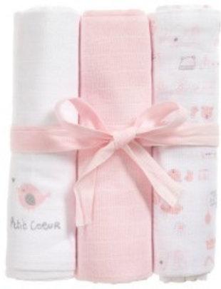 Absorba Absorba tetradoeken roze/wit