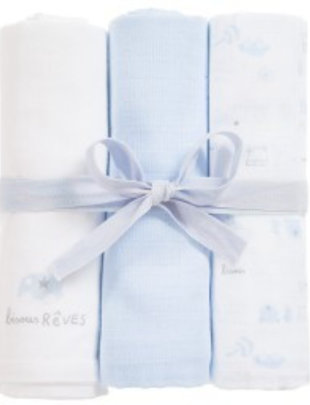 Absorba Absorba Tetradoeken Set Van 3 Blauw
