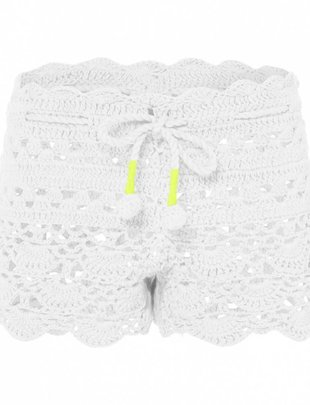 Sunuva swimwear Sunuva Girls White Crochet Short