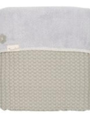 Koeka Koeka Ledikantdeken Oslo Olive Green/Silver Grey  100 x 150 cm