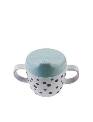 Done by Deer Done by Deer 2-Handle Spout Cup Happy Dots Blue