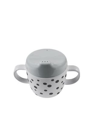 Done by Deer Done by Deer Cup 2-Handle Spout Cup Happy Dot Grey