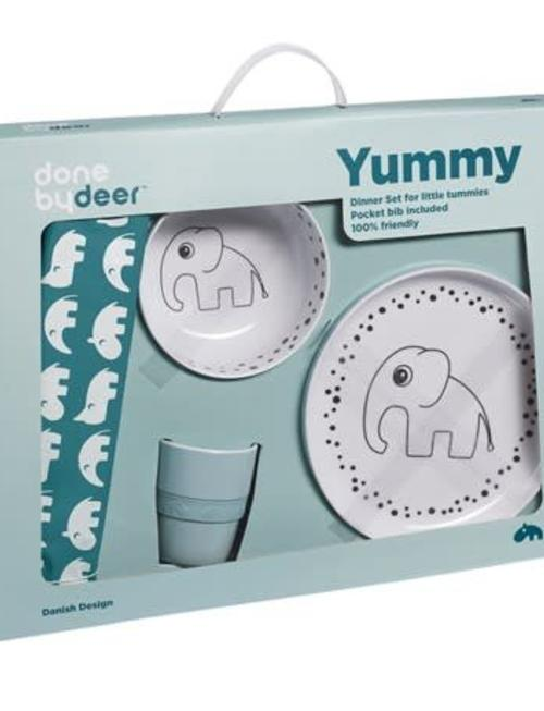 Done by Deer Done by Deer Dinner Set Happy Dots Blue