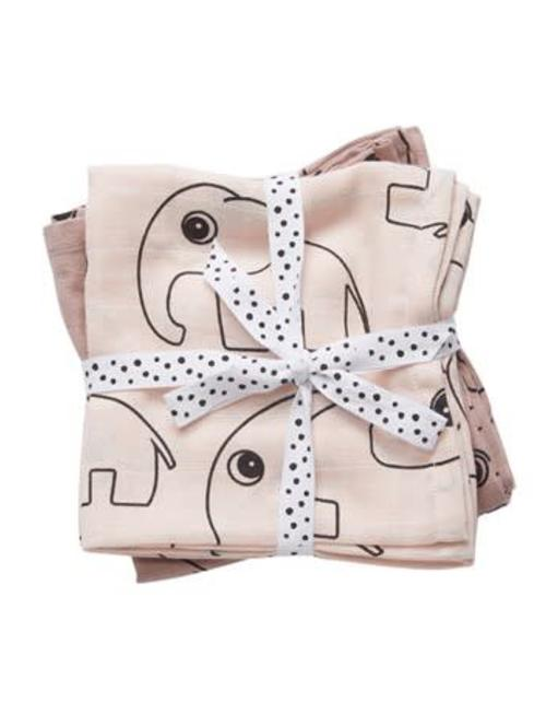 Done by Deer Done by Deer Burp Cloth 2-Pack Contour Powder