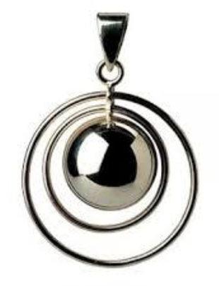 Bola Zwangerschapsbelletje Dubbele Ring Zwart