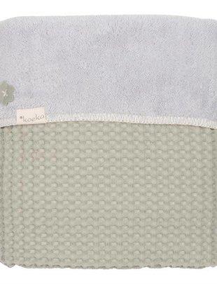 Koeka Koeka Deken Oslo Wafel/Teddy Olive Green 75 x 100 cm