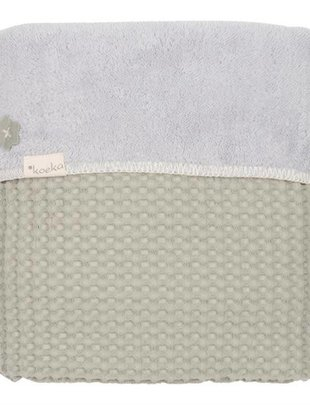 Koeka Koeka Wiegdeken Oslo Wafel/Teddy Olive Green 75 x 100 cm