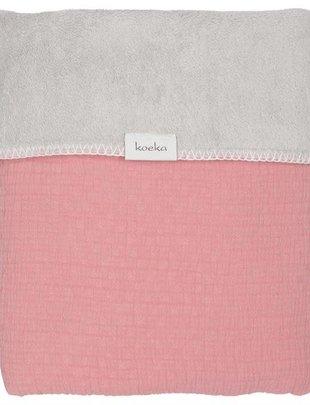 Koeka Koeka Wiegdeken Elba Teddy Old Pink/Silver Grey 75 x 100 cm