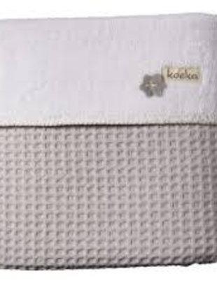 Koeka Koeka Deken Oslo Wafel/Teddy Silver Grey/White  75 x 100 cm