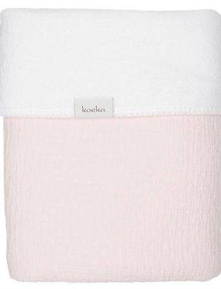 Koeka Koeka Wiegdeken Elba Teddy Water Pink/White 75 x 100 cm