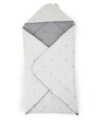 Childhome Childhome Babywrapper Unersal 75 x 75 Jersey Gold Dots