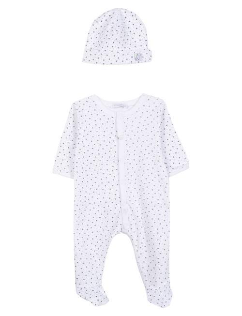 Absorba Absorba Pyjama + Muts Wit/Grijze Sterretjes