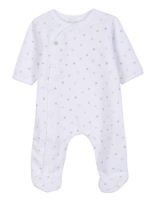 Absorba Absorba Pyjama Wit & Grijze Sterren