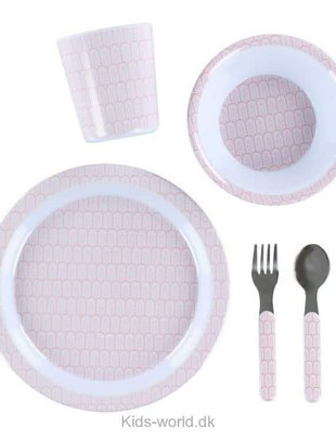 Filibabba Filibabba Dinner Set Roze