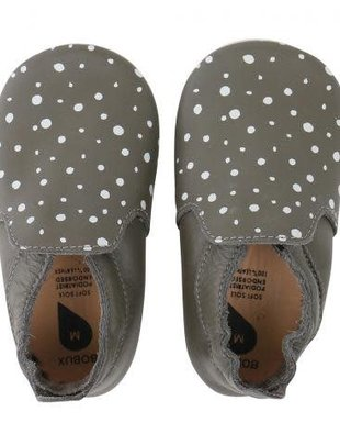 Bobux Bobux Soft Soles Grey/Silver Spots/Grey Trims Loafer