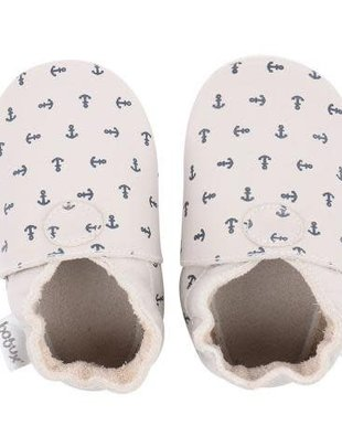 Bobux Bobux Soft Sole Milk With Anchor Print